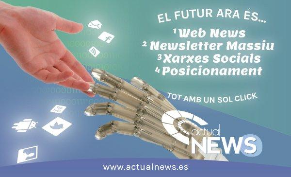 Presentem ActualNews, gestió de noticies, xarxes socials i newsletters.