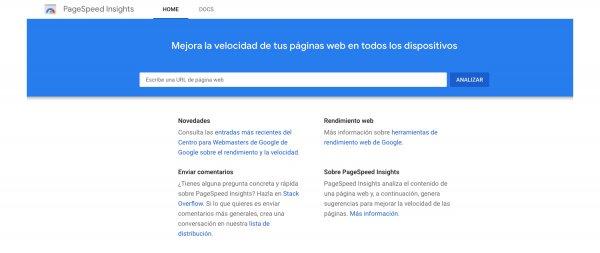 Aplicación de Google para medir la velocidad de arranque de tu página web