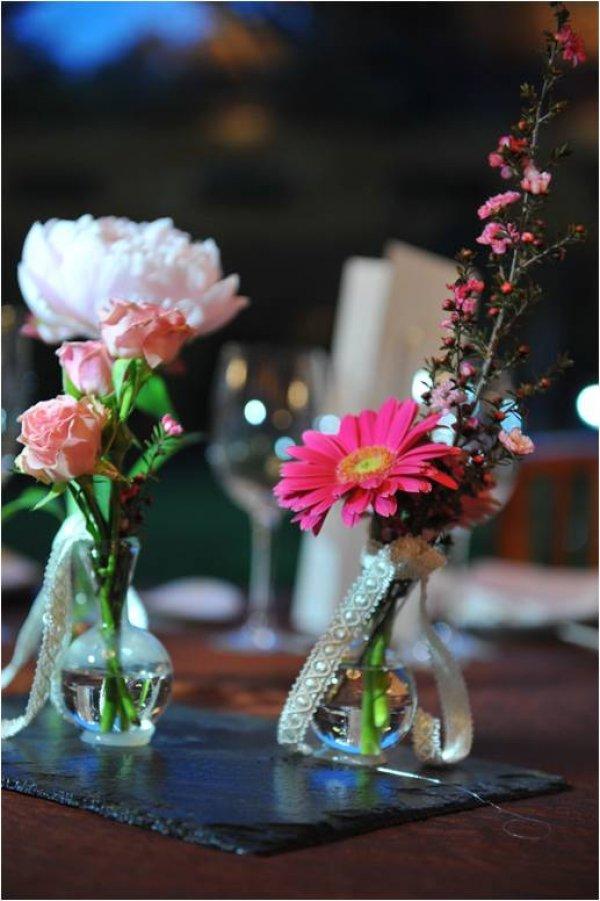 Elige un centro de mesa románticos para tu boda!