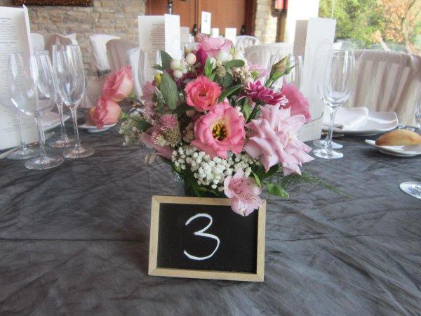 ¡Personaliza los números de mesa de tu boda!