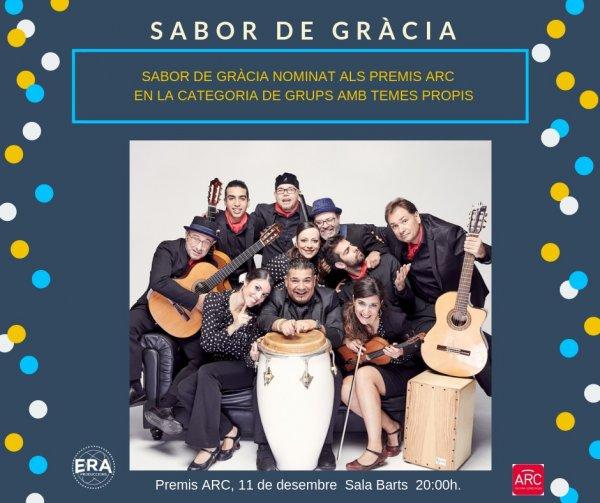 Sabor de Gràcia Nominados a los Premios ARC