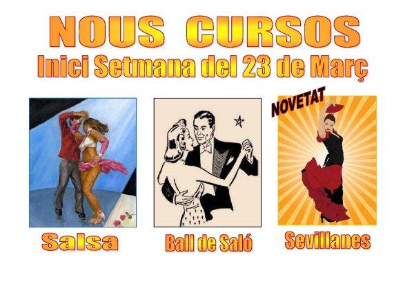 Nuevos cursos de Bailes de Salón, Salsa i Sevillanas.