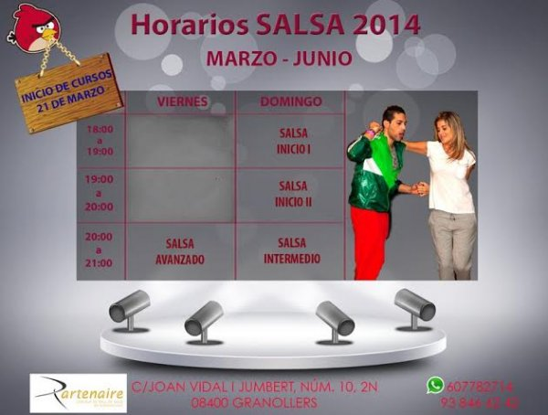 Nuevos cursos de Salsa!
