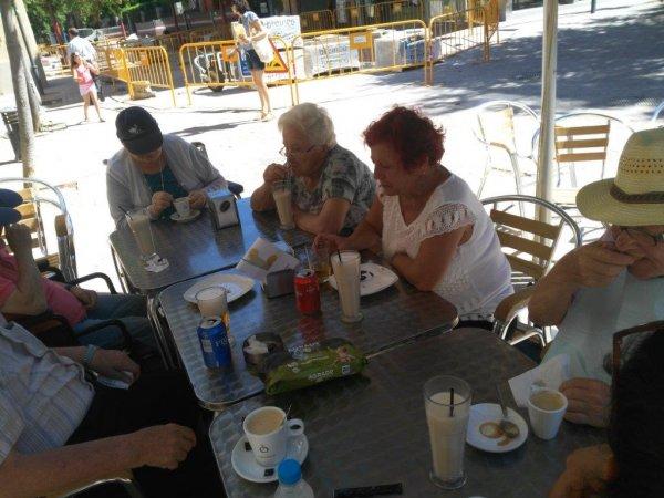 El otro dia de paseo por Cardedeu con los familiares