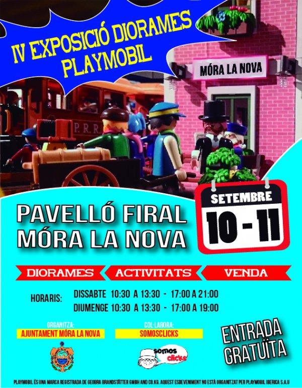 IV Exposició Diorames Playmobil a Mora la Nova